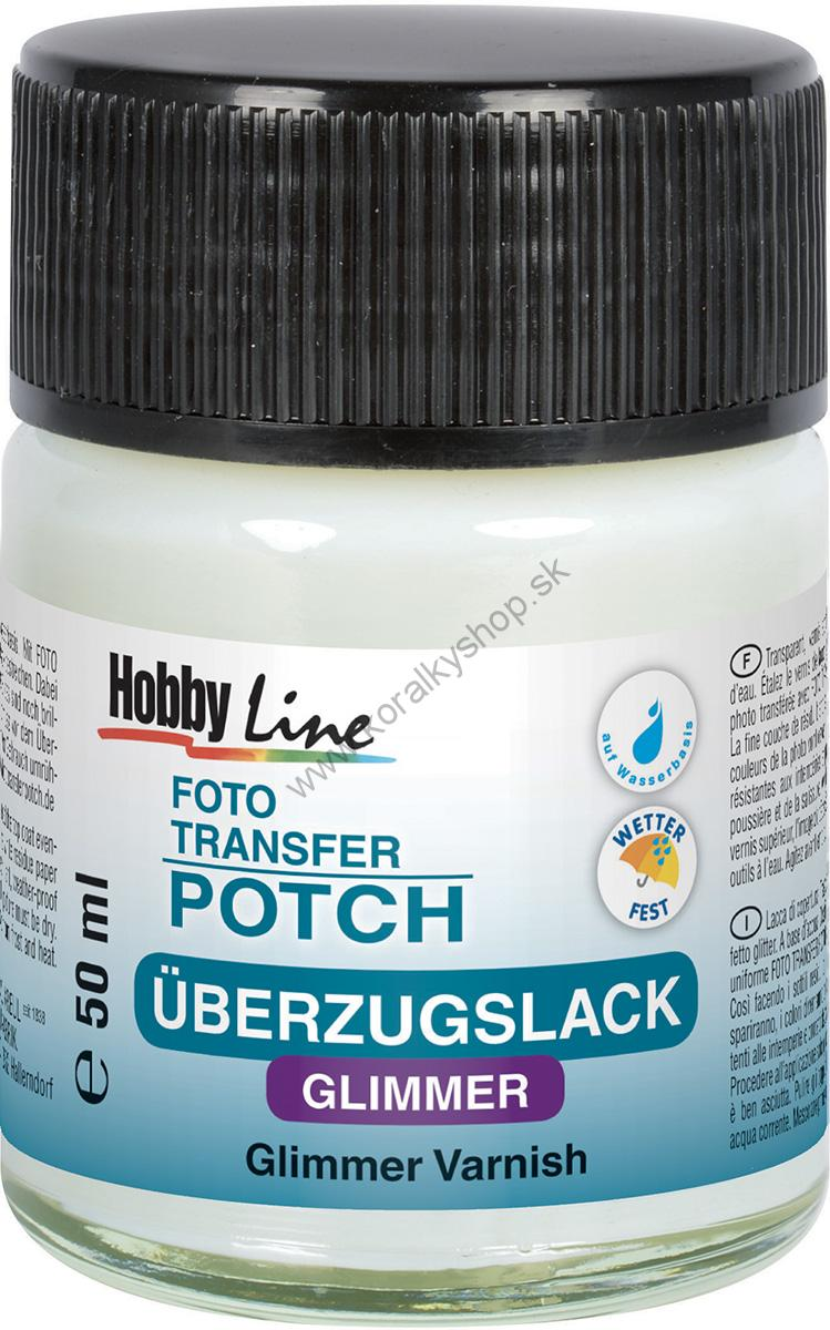 Lak na FOTO TRANSFER POTCH - glitrový - 50 ml