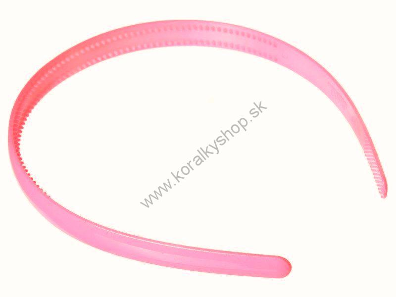 Plastová čelenka - 8 mm - ružová - 1ks 49b474ea55