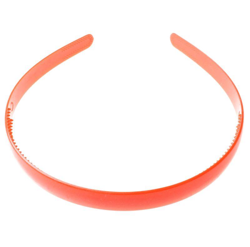 Plastová čelenka - 8 mm - oranžová - 1ks b19c9bee54