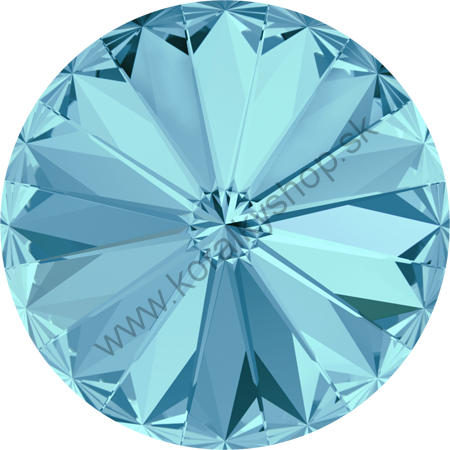 Swarovski elements RIVOLI 1122 - 12 mm - Aquamarine F