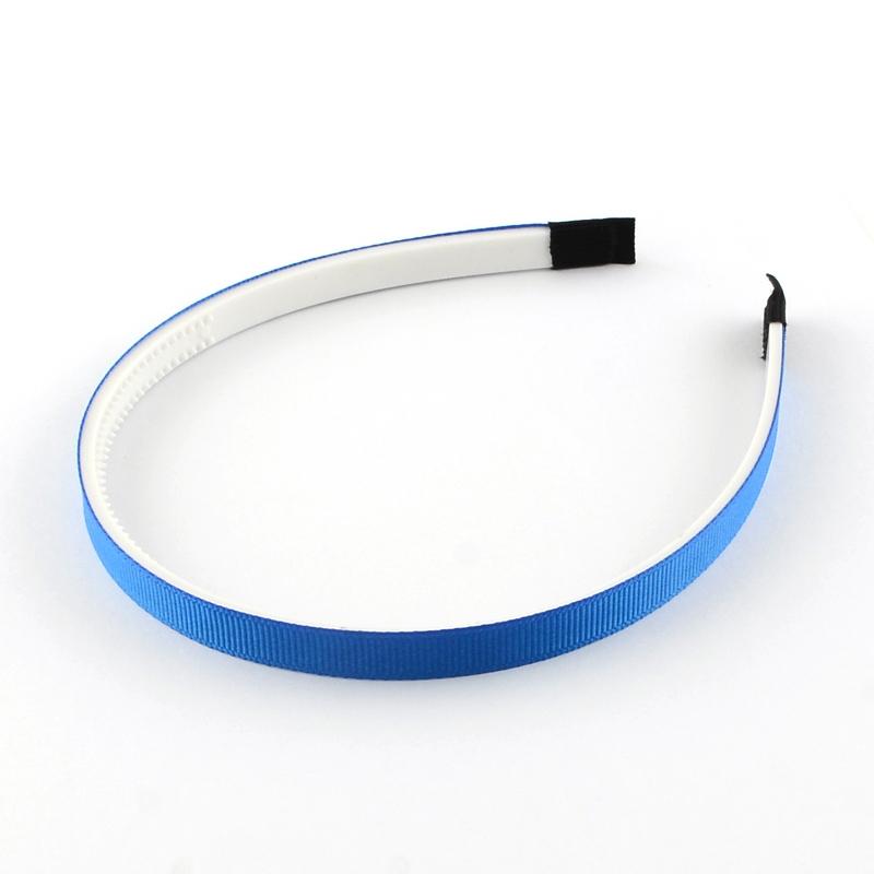 Plastová čelenka s ripsovou stuhou - 10 mm - modrá- 1ks bc46d24a16