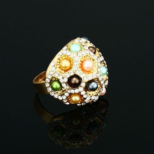 Prsteň s vkladnými kamienkami a perličkami c6791e2f17b