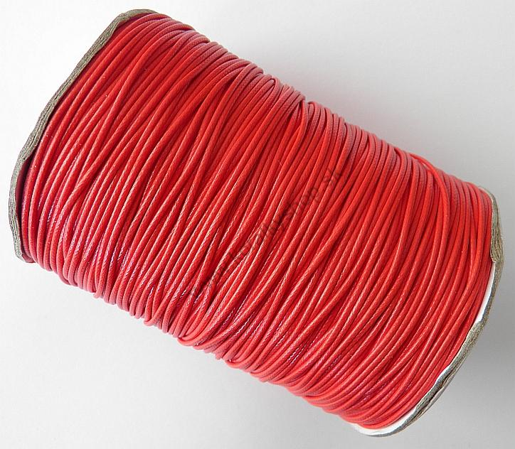 1e686a6222 Voskovaná šnúrka 1 mm - lesklá - červená