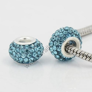 Pandora style - korálka s kamienkami - modrá- 1 ks empty d42c7f3ac07