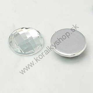 Akrylový kabošon  12 mm - crystal - 1ks