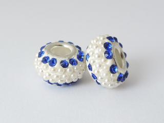 Pandora style - plastová korálka s kamienkami - modrá - 1 ks empty 3d169b46e35