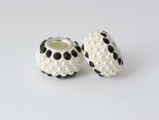 Pandora style - plastová korálka s kamienkami - čierna - 1 ks empty 7c3f889d8f7