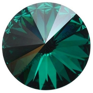 Swarovski elements RIVOLI 1122 - 12 mm - Emerald F
