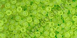 Transparent-Frosted Lime Green 11/0 - 10 g