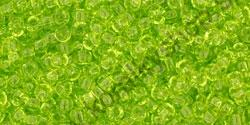 Transparent Lime Green 11/0 - 10 g