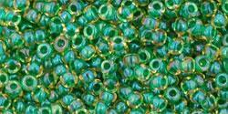Inside-Color Luster Jonquil/Emerald Lined 11/0 - 10 g