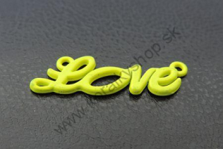 "Medzikus ""LOVE"" - 33 x 10 mm - žltá - 1ks"