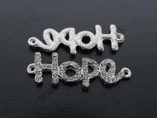 "Medzikus ""Hope"" - 40 x 14 mm - platina - 1ks"